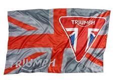 GENUINE TRIUMPH MERCHANDISE - UNION JACK FLAG WITH TRIUMPH BADGE DESIGN