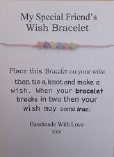 My Special Friends  Wish Bracelet & Flowers,Gift,charms,Birthday, Party Bag,