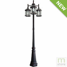 3 Head Fixture Outdoor Post Light Lamp Rust Garden Yard Driveway Lamppost