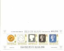 "Isle OF MAN PENNY BLACK min foglio ""London 1990 OVERPRINT MNH"