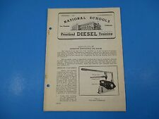 1940's Diesel Training National Schools Lesson #60 Generator Maint & Repair M966