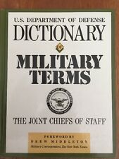 DICTIONARY of MILITARY TERMS - The Joint Chiefs of Staff - US Dept. Defense 1988