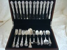 STRASBOURG BY GORHAM STERLING SILVER FLATWARE PLACE SIZE SET SERVICE 63 PIECES