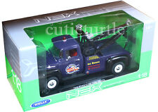 Welly 1956 Ford F 100 Wrecker Bob's Towing Tow  Truck 1:18 Blue 19834
