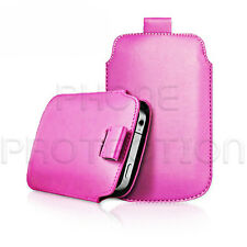 LEATHER PULL TAB SKIN CASE COVER POUCH FITS VARIOUS SAMSUNG PHONES/MOBILES