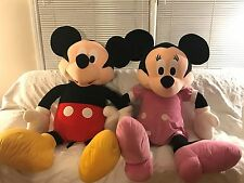 "Disney Giant Jumbo 48"" Plush Mickey & Minnie Mouse Huge Stuffed Disney Store Toy"