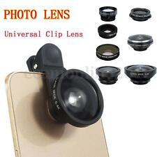 8 in 1 universal clip-on lente fisheye+grandangolare+obiettivo macro telefoni