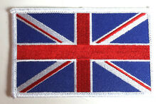 """UK Flag 4"""" Wide DELUXE Embroidered Patch- FREE S&H (DMPA-74)"""
