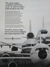 7/1976 PUB GENERAL ELECTRIC CF6 ENGINE AIRBUS BOEING AIRLINER ORIGINAL AD
