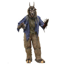 Complete Devil Goat Mask Shirt Hairy Legs Hooves Gloves Adult Halloween Costume