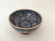 ISLAMIC IZNIK JERUSALEM POTTERY FOOTED BOWL WITH PALESTINE SEAL MARK