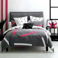 Deco City Living PILLAR CHARCOAL Queen Size Bed Doona| Duvet| Quilt Cover Set