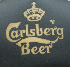 Vintage 1980s Carlsberg Black Cap Hat Adjustable Strap Back NWOT