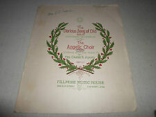 The Glorious Song of Old Angelic Choir TRIO Sop/Alt/Ten Piano* Music Score Sheet