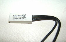 KSD9700 250V 5A 70°C CELSIUS THERMOSTATIC TEMPERATURE SWITCH N.O. NORMALLY OPEN