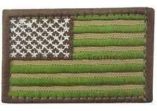 """CONDOR Multi Cam USA 2"""" x 3"""" United States Flag ISAF Badge Army Morale Patch"""