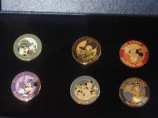 EURO DISNEY 1992 6 OPENING PIN BOXED SET MICKEY GOOFY PLUTO DONALD LAND SET