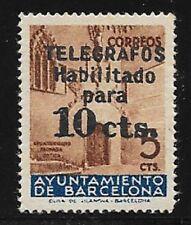 AYUNTAMIENTO DE BARCELONA. TELÉGRAFO EDIFIL Nº 9**