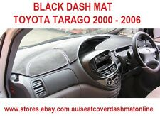 DASH MAT, BLACK DASHMAT FIT  TOYOTA TARAGO 2000 - 2006, BLACK