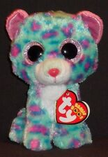 """TY BEANIE BOOS - SYDNEY the 6"""" LEOPARD - CLAIRE'S EXCLUSIVE - MINT with MINT TAG"""