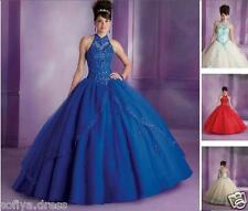 Beads Quinceanera Dress Formal Prom Party 2016 Ball Gown Wedding Dresses Custom