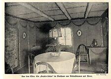 """Soldatenhaus im Osten: Der """"Empire-Salon"""" im Blockhaus 1916 *  WW1"""