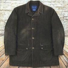 Faconnable by Albert Goldberg Men's Sz M Corduroy Jacket Coat Lined Brown