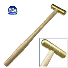 BRASS HAMMER SMALL FLAT FACE & DOMED HEAD 2 Oz SOLID BRASS JEWELRY WORK HAMMER