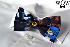 "Batman Adult Size solid 2 layer party wedding pre-tied ""WoW bow ties"" bow tie"