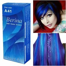 Berina Dark Blue Color A41 Permanent Hair Dye Color Cream Punk Style Unisex