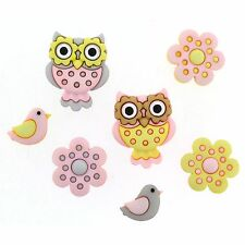 JESSE JAMES BUTTONS ~ DRESS IT UP - WHOO LOVES YOU 9319 ~ Owls ~  Sew Craft