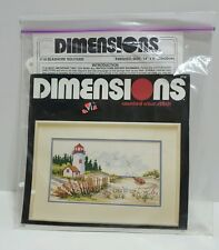 NEW Dimensions Seaside Solitude Counted Cross Stitch Kit Opened Package 3718