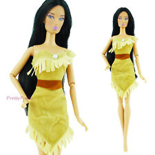 Princess Pocahontas Dress Wedding Party Clothes For Barbie