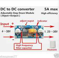 DC-DC 5V-36V to 3.3V 6V 12V 24V 5A Buck Step Down Converter Module Car Voltage