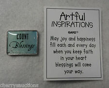 q4 1x COUNT BLESSINGS blessing ARTFUL INSPIRATIONS POCKET TOKEN CHARM reminder