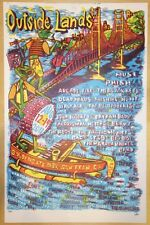 2011 Outside Lands Festival - Phish Muse Arcade Fire Concert Poster by Pollock