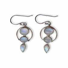 925 Sterling Silver Rainbow Moonstone Earring Handmade