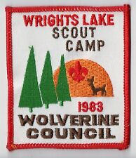 Camp Patch Wrights Lake Scout Camp Wolverine Council MI 1983 701091