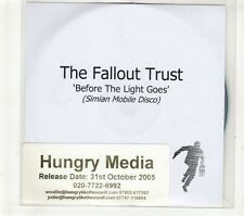 (GT721) The Fallout Trust, Before The Light Goes - 2005 DJ CD