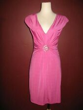 IAM I A M Alberto Makali S pink 4 6 solid versatile evening cocktail dress A7
