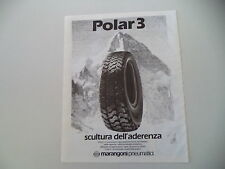 advertising Pubblicità 1985 PNEUMATICI MARANGONI