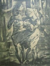 Vintage African American Listed Artist HOWELL Serigraph Signed Cubism Art Number