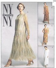 Vintage Women's  Loose Fitting Flowing Caftan Dress Sewing Pattern UNCUT