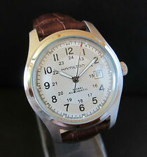 "HAMILTON MILITARY ""KHAKI"" FIELD AUTOMATIC - BIG SIZE 42 mm OUT CROWN SWISS WATCH"