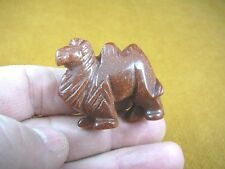 Y-CAM-558) little Orange Goldstone CAMEL gemstone carving I love camels figurine