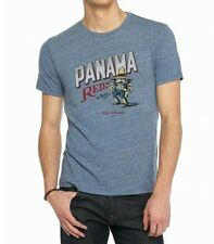 Lucky Brand - NWT - Mens S - Blue Heather Panama Reds S/S 100% Cotton T-Shirt