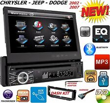 "02 03 04 05 06 07 CHRYSLER JEEP DODGE 7"" TOUCHSCREEN CD DVD BLUETOOTH CAR STEREO"