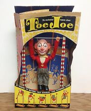 Vintage c. 1950's TOE JOE Acrobat Mechanical Trapeze Clown Tin Toy Original Box