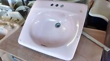 Old Vintage Retro Cast Iron Porcelain AR&SS Corp. Bathroom Sink, 1969 Drop-in