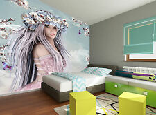 Blossom Girl Wall Mural Photo Wallpaper GIANT DECOR Paper Poster Free Paste